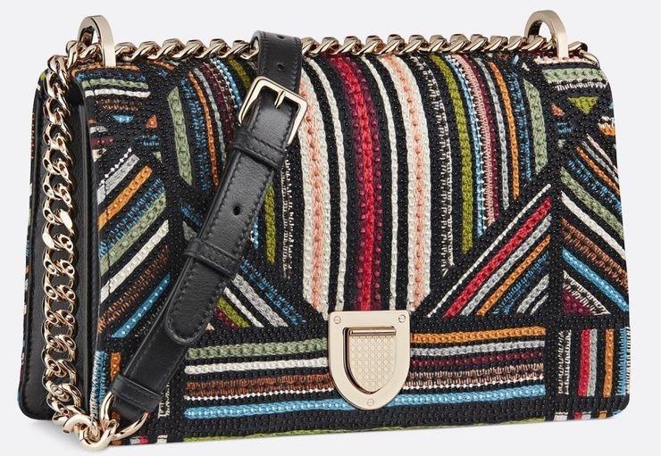 Dior Embroidered Stripes Diorama Flap Bag: $4,300
